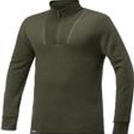 Woolpower Ullfrotte Original Zip Turtleneck - 200g - Pine Green