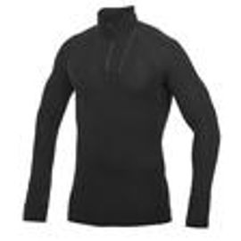 Woolpower Zip Turtleneck LITE - Black