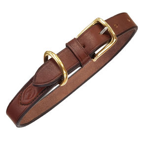 Ray Mears Leather Dog Collar