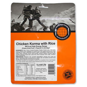 Expedition Foods - Chicken Korma with Rice (High Energy Serving) - Pack of 2