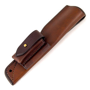 Ray Mears Leather Knife Sheath - Belt with DC3 and Fire Stick Pockets