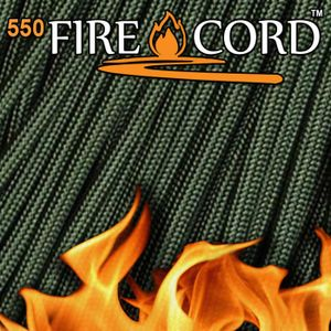 Live Fire 550 FireCord - 25 feet - Olive Drab