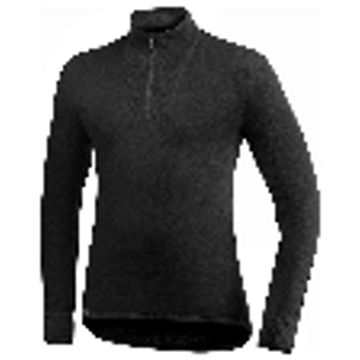 Woolpower Ullfrotte Original Zip Turtleneck - 200g - Black