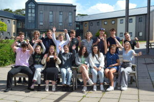 West Buckland A-level students celebrate great results