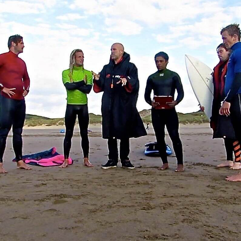 Surf coaching on Croyde Beach