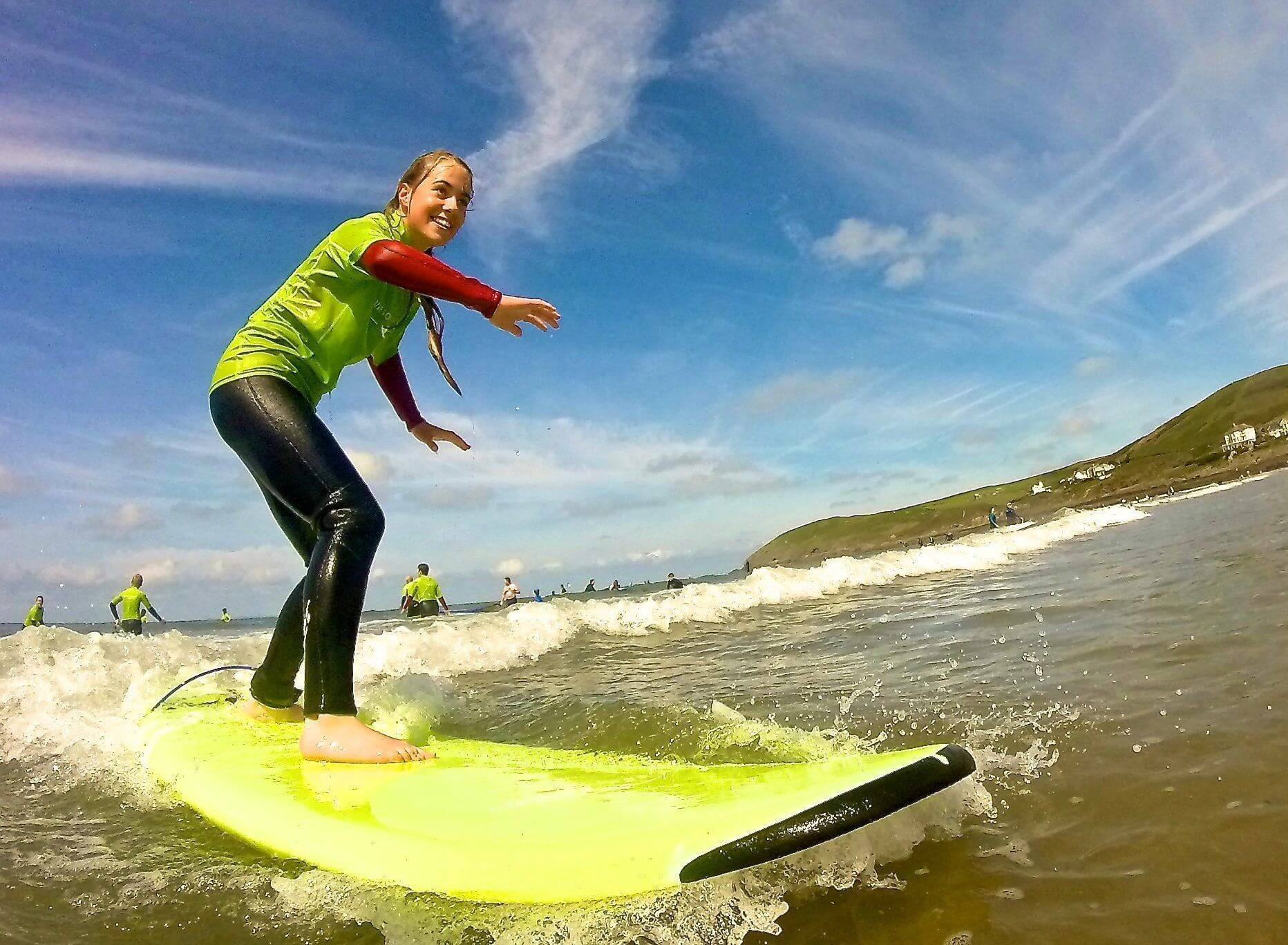 Surf lesson Croyde Beach