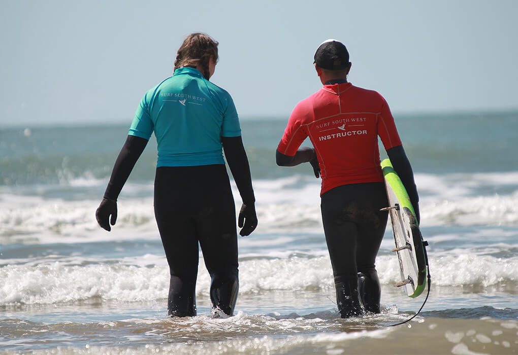 surf instructor course croyde