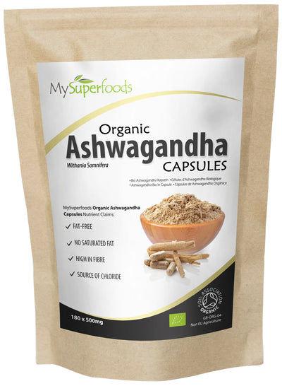 Cápsulas de Ashwagandha Orgánica