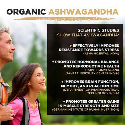 Poudre d'Ashwagandha Biologique