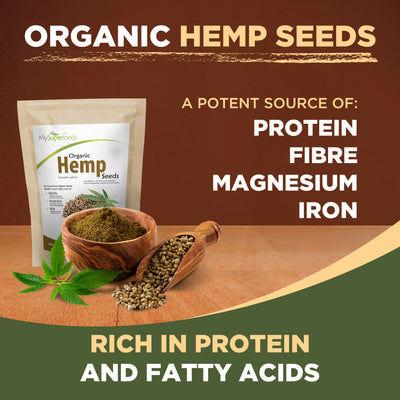 Semillas de cáñamo orgánico