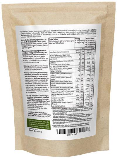 Comprimés de spiruline biologique (comprimé de 300 x 500 mg)