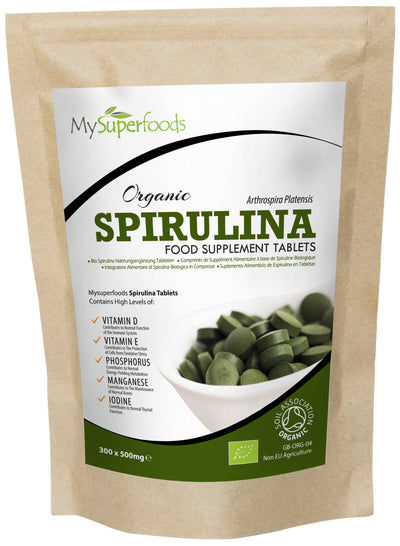 Bio-Spirulina-Tabletten (300 x 500 mg Tablette)