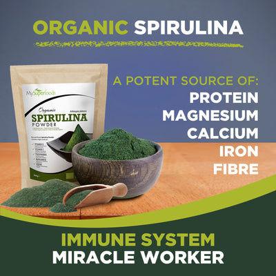 Tabletas de espirulina orgánica (300 tabletas x 500 mg)