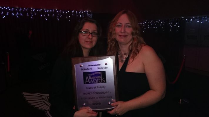 glass of bubbly winning Colchester Award