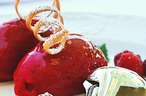 Also try Champagne sorbet with different fruits