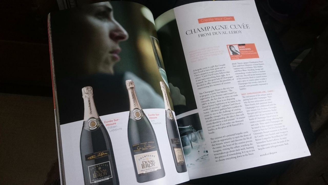 Glass of Bubbly Magazine Duval-Leroy Champagne