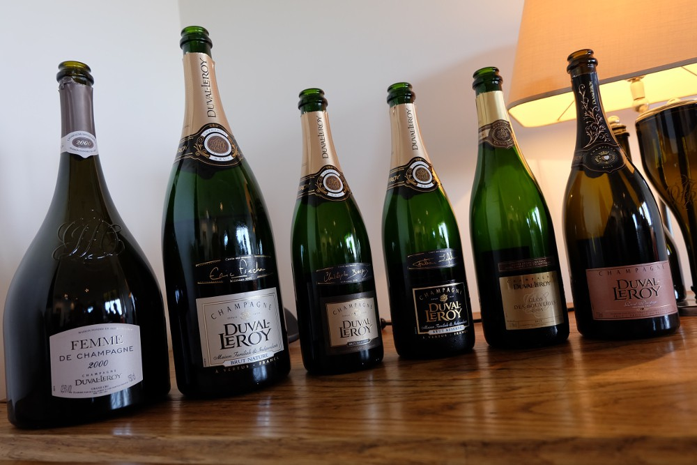 Duval-Leroy Champagne labels
