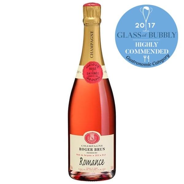 Champagne Roger Brun La Pelle Rosé de Saigné 2013 Romance