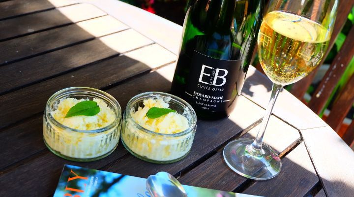 How to Make Home Made Champagne Ice Cream!