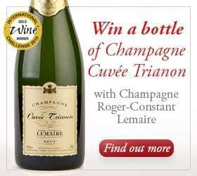 Win a bottle of Cuvée Trianon Champagne