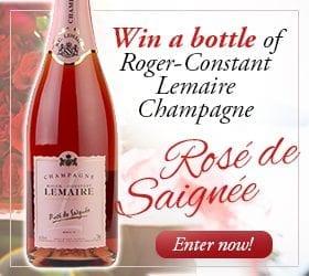 Win a Bottle of Rosé de Saignée RCL Champagne