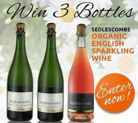 Win 3 Bottles of Sedlescombe Organic English Sparkling Wine