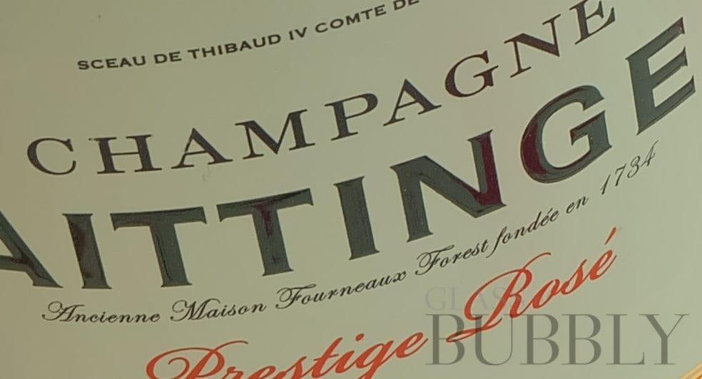 champagne taittinger rose label