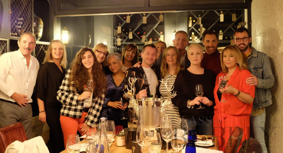 Hollyoaks Stars Enjoy a Masterclass in Fizz with Glass of Bubbly