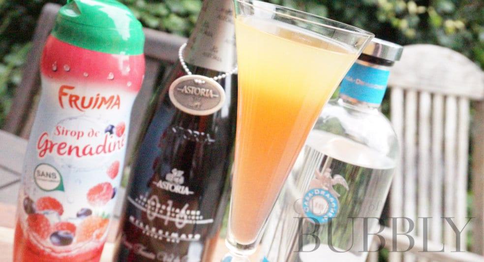 Astoria prosecco cocktail