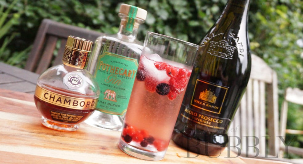 Villa Sandi Chambord cocktail