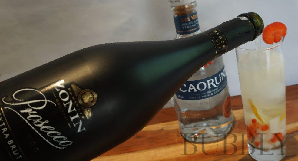 Pouring Zonin Black Label Prosecco DOC