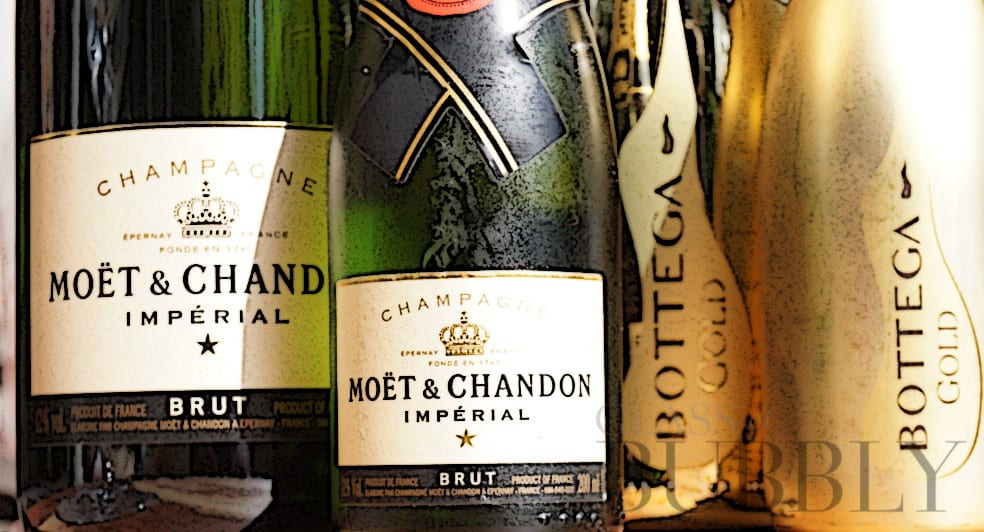 Moet et Chandon vs Prosecco Bottega Gold Brut