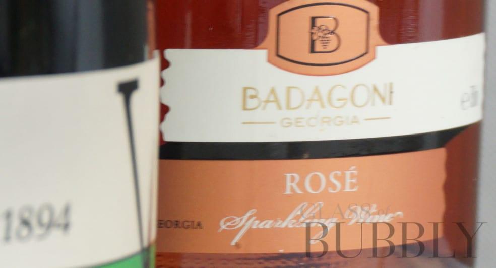 Badagoni Rosé sparkling wine