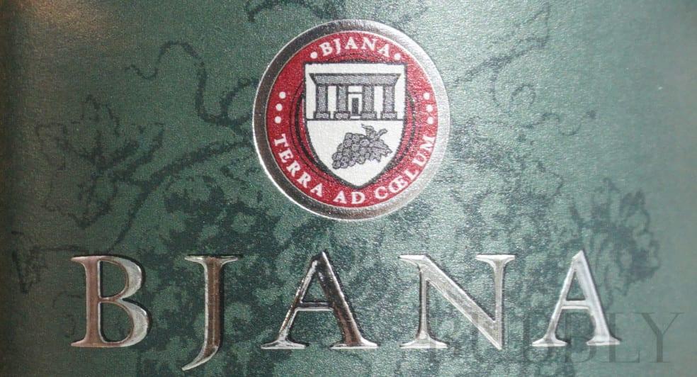 Bjana Slovenian sparkling wine Brut Label