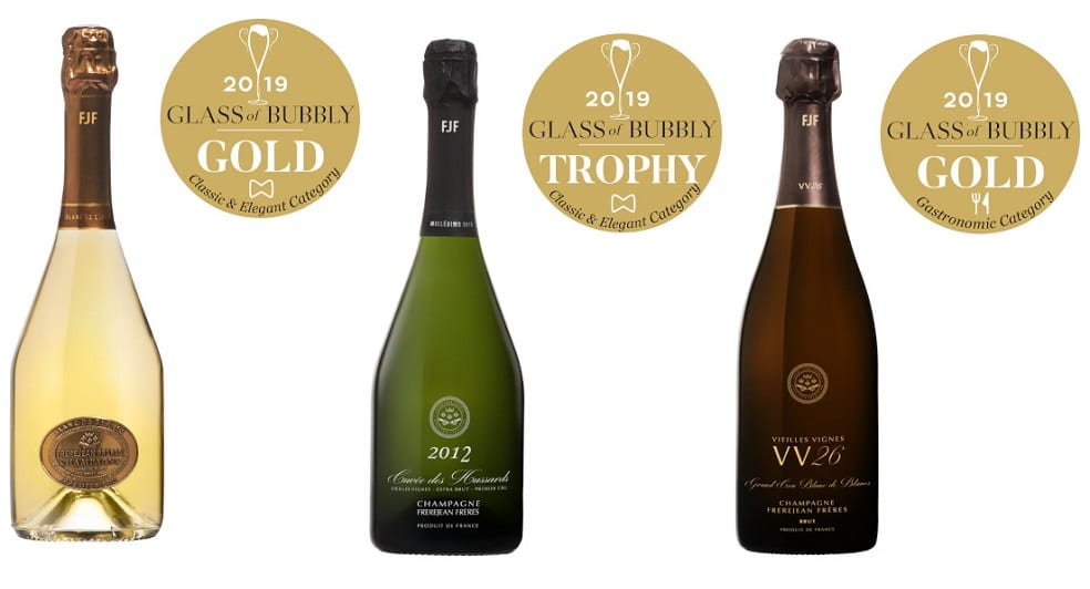 Champagne Frerejean Frères Trophy & Gold Medal winners