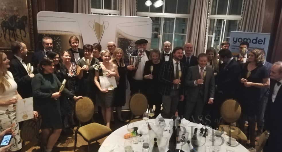 Glass of Bubbly Awards Trophy Winners 2019