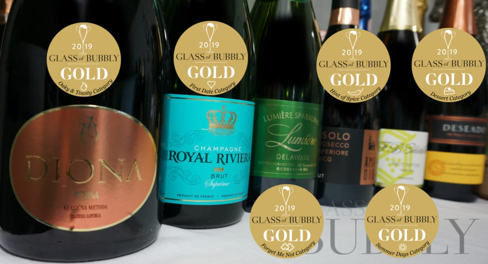 Gold medal winning sparkling wines 2019