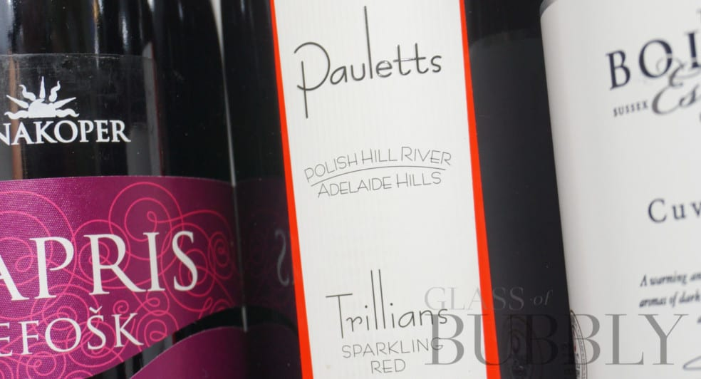 Pauletts Trillians red sparkling wine