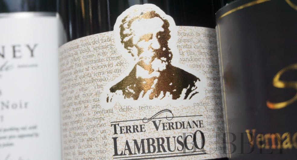 Terre Verdiane Lambrusco red sparkling frizzante