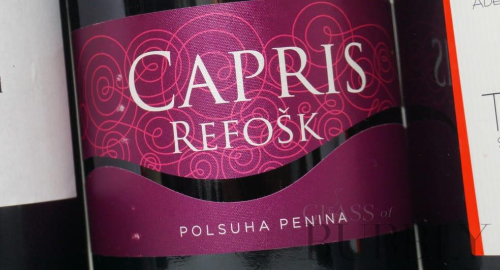 Vinakoper Capris Refosk red sparkling wine