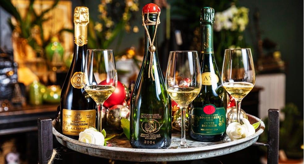 Champagne Roger Brun trio