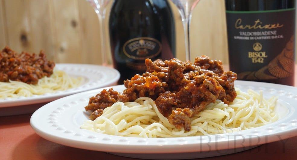 Spaghetti Bolognese & Cartizze