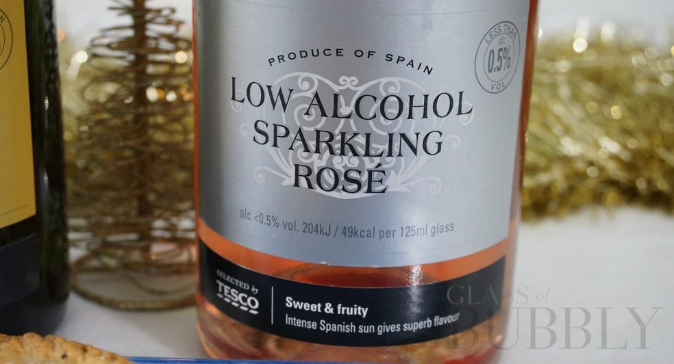 Tesco Low Alcohol Sparkling Rosé 2018
