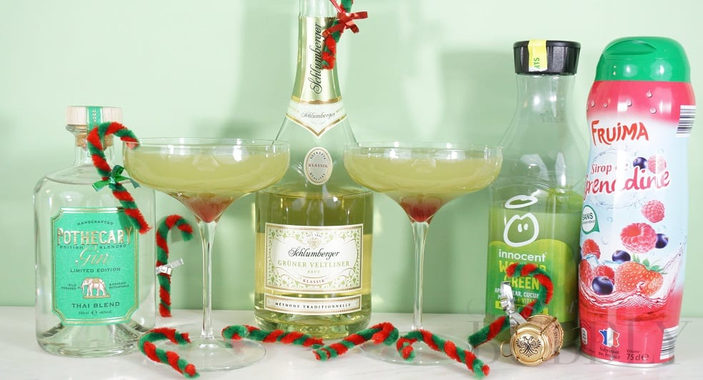 The Grinch Fizz Cocktail