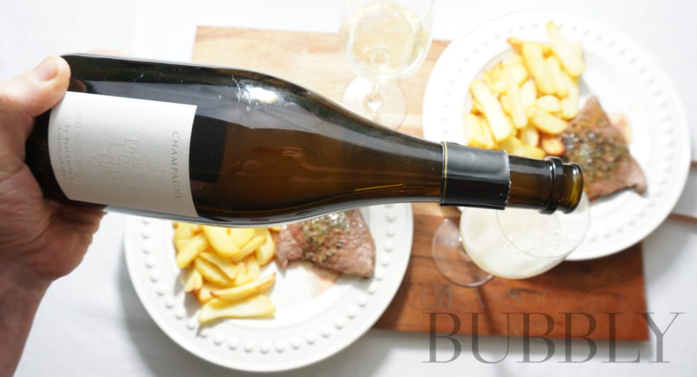 Champagne with Steak and Chips