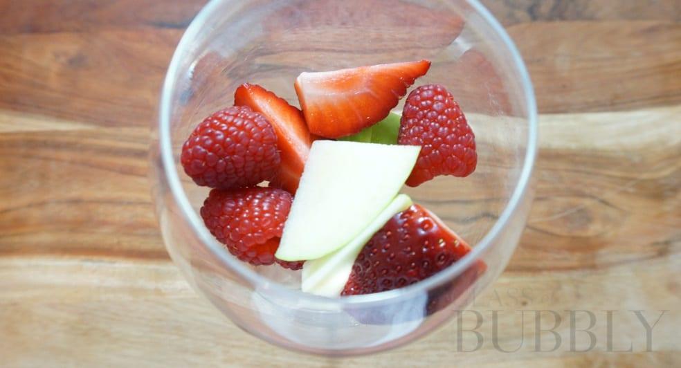 Fruit in Wine Glass