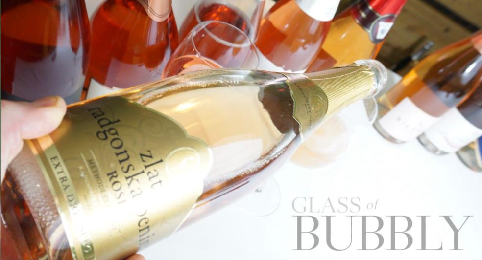 Rosé sparkling wine tasting from Slovenia