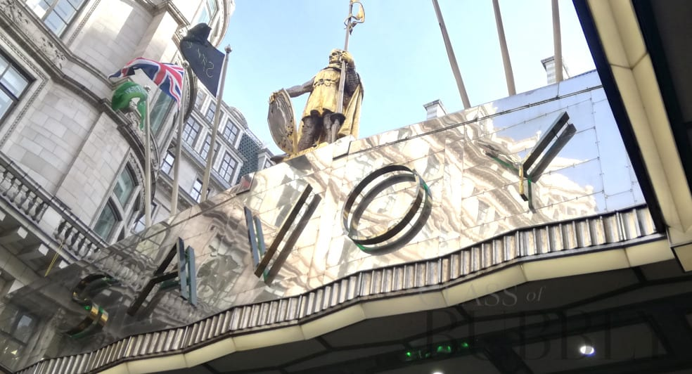 The Savoy Hotel Entrance 2020