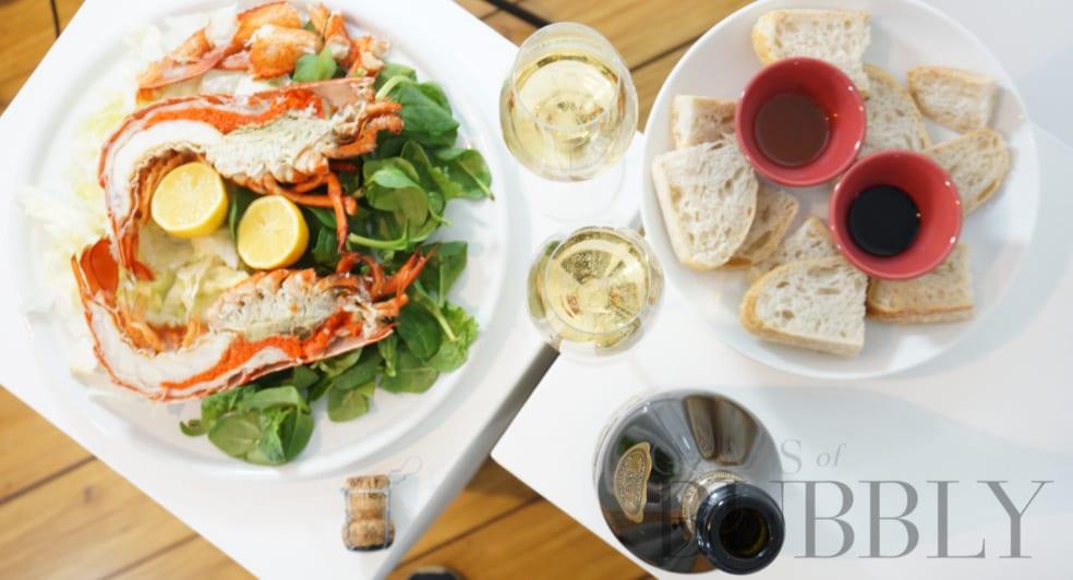 Champagne Roger Brun La Pelle 2013 and Lobster
