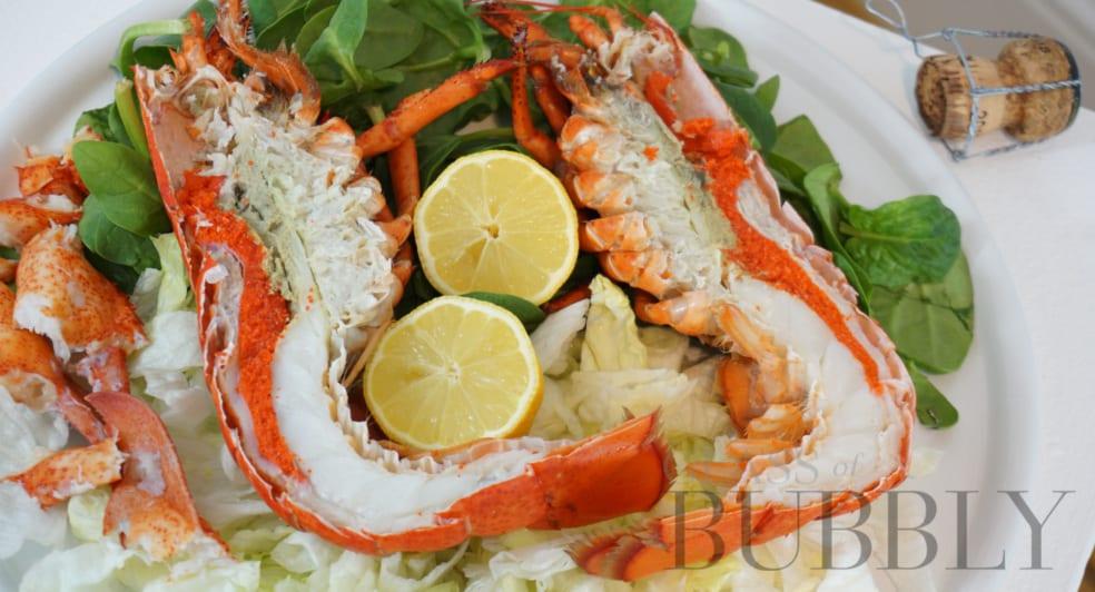Lobster salad with a splash of lemon